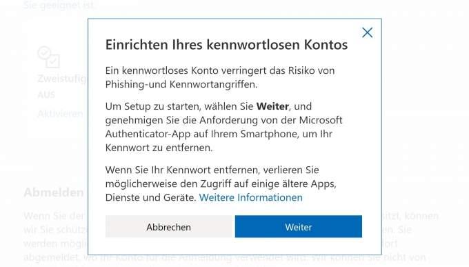 Remove Microsoft account password