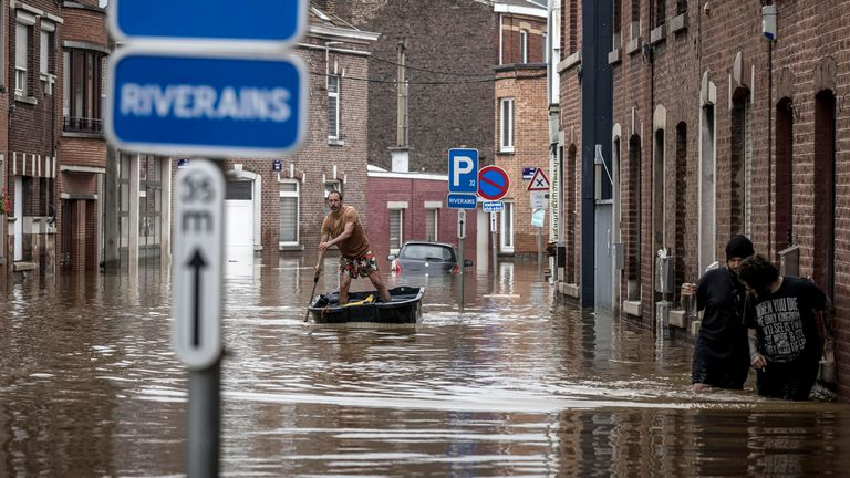July 2021: Floods in Anglor, province of Liege, Belgium, Photo: Associated Press